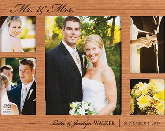 COLLAGE Photo FRAME CUSTOM Personalized Engraved