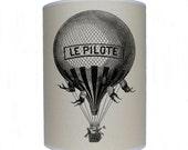 French hot air balloon shade/ lamp shade/ ceiling shade/ drum lampshade/ lighting
