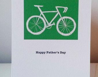 A fun greetings card of a bicycle