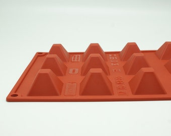 15-Pyramid Silicone Mold polymer clay mold Resin Mold Biscuit mould fimo mold Chocolate molds Epoxy mold Ice Tray ice mold candy molds