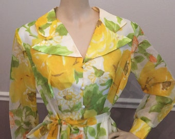 Gorgeous floral never worn Jac-An ltd dress. Size -large