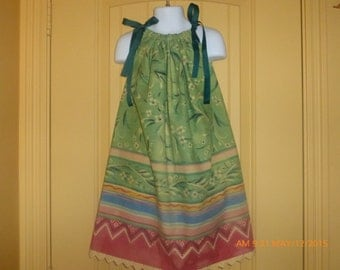 "Toddler ""batik colorful print"" sundress"