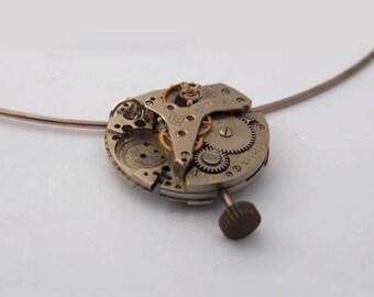 Original Steampunk Necklace Watch Goth