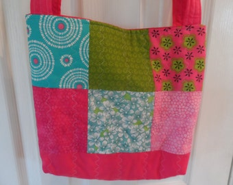 Quilted Pink Tote Bag