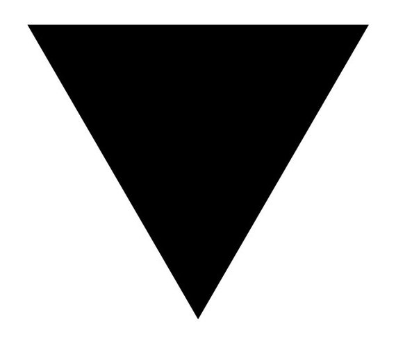 Black Triangle Gay And Lesbian LGBT Support Pride Symbol