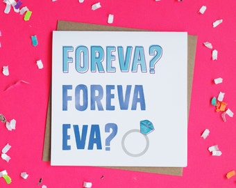 Forever Funny Engagement Card / Engagement Card / Congratulations Card / Wedding Card / Outkast / Card for Engaged Friend / Engagement Humor