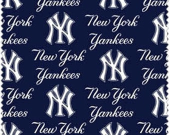 """New York Yankees Cotton Fabric 60"""" wide - Fabric by the yard"""