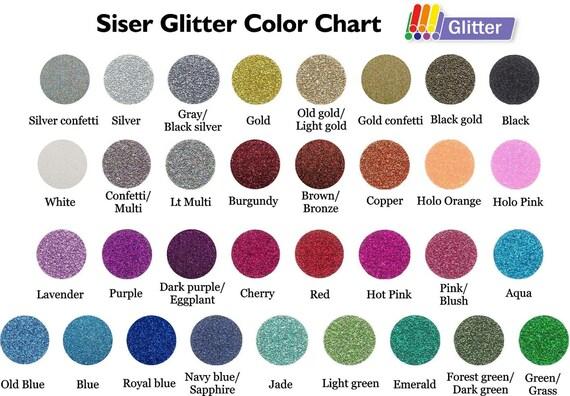Glitter Siser Heat Transfer Vinyl Pack Of 5 Sheets
