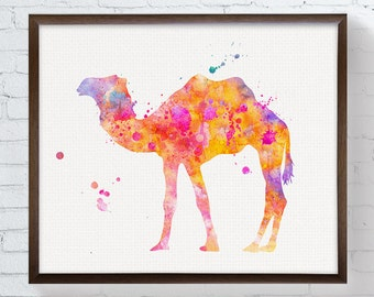 Watercolor Camel Print, Camel Print, Camel Painting, Camel Poster, Camel Wall Decor, Camel Art, Camel Wall Art, Home Decor, Kids Room Art