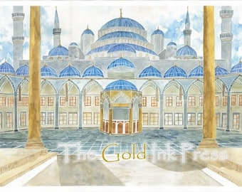 Sultan Ahmed Painting, Courtyard