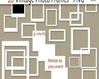 Digital photo frames or labels, vintage clipart frames, digital frame, frame clip art, clipart - BR 432