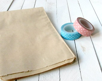 100 - 5 x 7.5 Kraft Merchandise Bags, Brown Paper Bags, Favor Bags