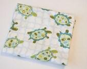 Lily Pond by Wendy Slotboom - Fat Quarter - Blue and Green Turtles - Destash
