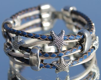Leather Bracelet with starfish