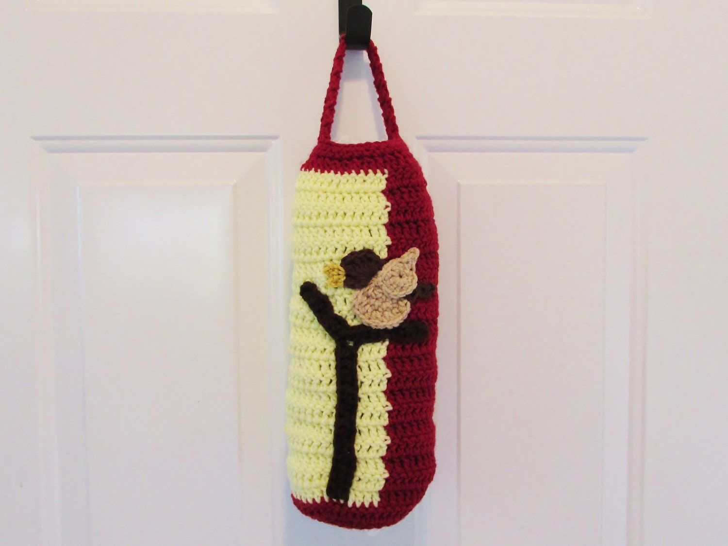 Grocery Bag Dispenser Crochet Plastic bag holder Singing