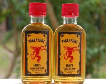 """Bachelorette Party Favor """"Take A Shot""""  Fireball Whisky shot labels"""
