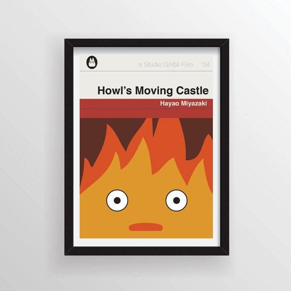 Penguin Classic Book Cover Posters ~ Howl s moving castle movie poster inspired by penguin