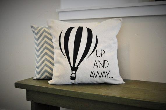 Hot air balloon, hot air balloon decor, nursery decor, up and away, hot air balloon print
