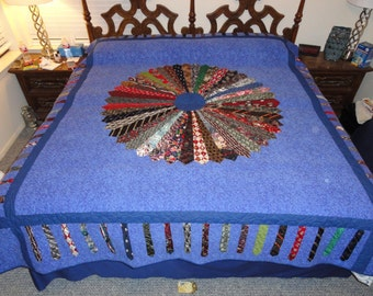 Beautiful mens necktie quilt