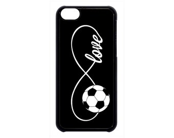 Soccer Infinity Forever Love Black Case Cover for iPhone 4 4s 5 5s 5c 6 6s 6 Plus iPod Touch case