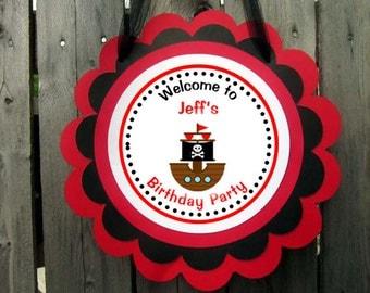 Pirate Birthday Party Door Sign