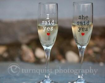 Engagement Glasses (set of 2)