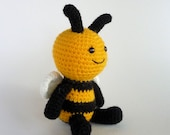 Amigurumi Bee, Crochet Toy Bee, Little Bee, Amigurumi Insect, Bumble Bee, Mini Amigurumi, Hand Made Toy