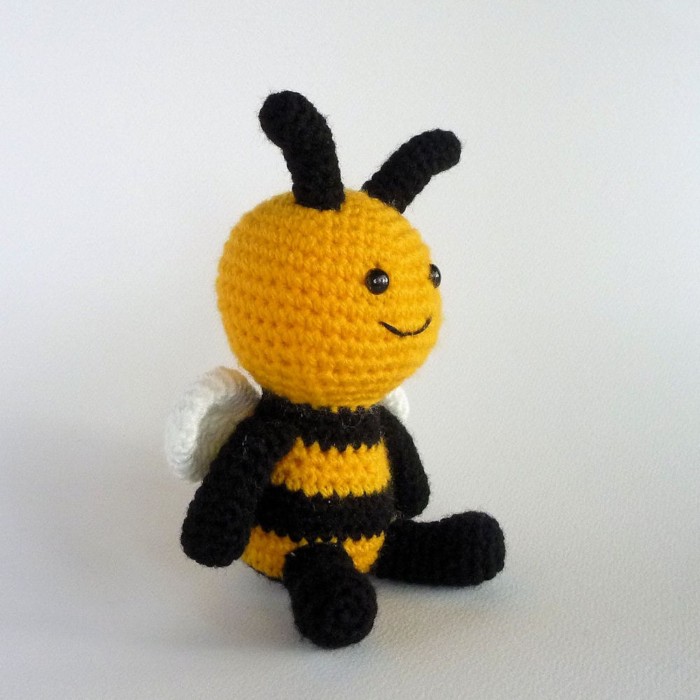 Cute Little Bee Small Amigurumi Bee Crochet Toy Bee Stuffed