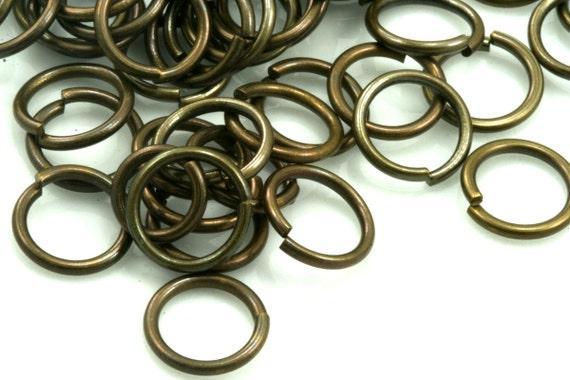 Open jump ring 100 pcs 15 mm 18 gauge ( 1 mm ) antique brass jumpring 1518JA-40
