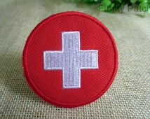 Red Cross Logo Iron on Patch 107-HA