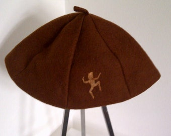 Vintage Girl Scout Wool Uniform Hat Pixie