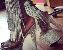 fringe layered anklets/ Anklets
