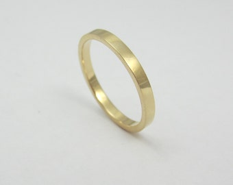 Skinny Gold Wedding Band|14K Yellow Gold|Recycled Gold|Eco Friendly