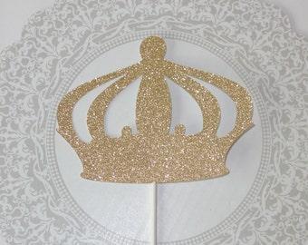 Prince Crown Cake Topper - Cake Topper - Gold Cake Topper - prince theme birthday - prince theme baby shower