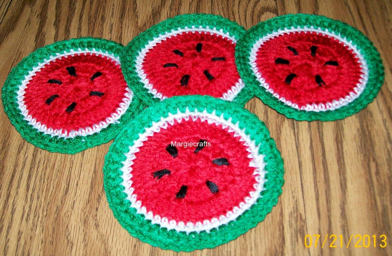 Crochet coasters handmade drink coasters glass coasters for Handmade drink coasters