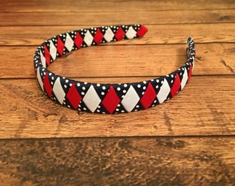 Red, White, and Blue Braided Ribbon Headband