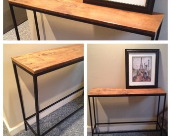 XL Slender Steel Console Table 46x10x32