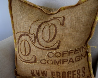 Gold stitched typograhy Pillow