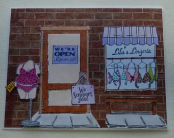 Lingerie Store Birthday Card