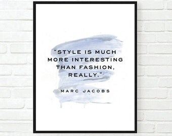 fashion is art quote Typographic Print Quote art print wall decor marc jacobs quote bedroom poster print framed quote tumblr room decor