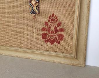 Framed cork bulletin board - vintage inspired - shabby chic decor