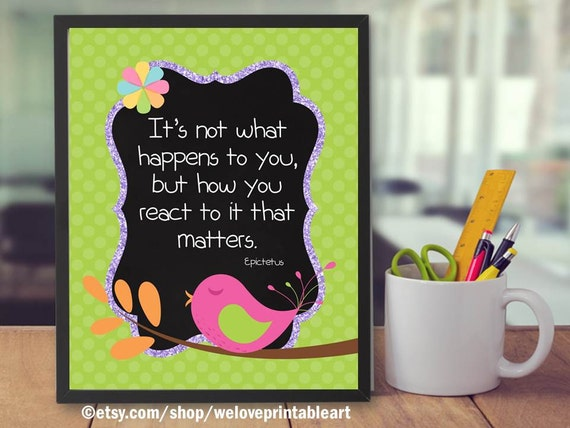 Classroom Decoration Ideas Quotes ~ Teacher classroom decor decoration quote print