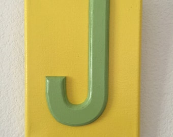 Letter J wall decor