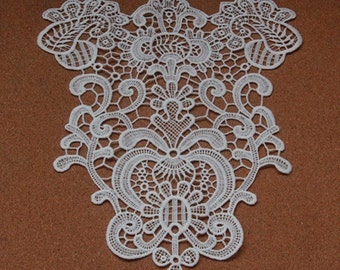 1pc Lace Applique Off White Palace Retro Collar Altered Clothing Embellishing Embroidered