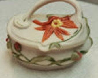 Starburst Floral Porcelain Box