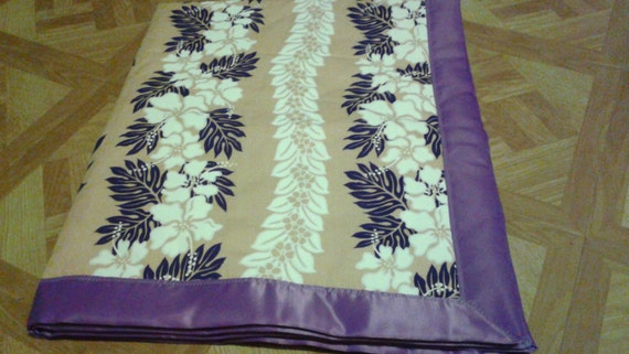 Baby Blanket Purple Hawaiian Print By Foreverfavoredshop On Etsy