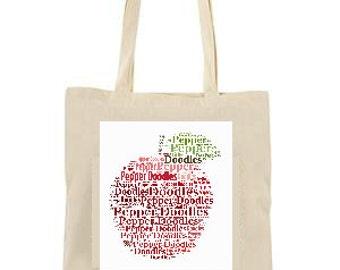 Teacher Gift Personalised Tote Bag, Teacher Gift, Personalised Gift, Tote bag, Teacher bag, Teacher appreciation, Custom Bag, School bag