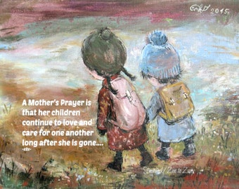 MOTHER'S PRAYER MAGNET by Nino Chakvetadze and Zen to Zany
