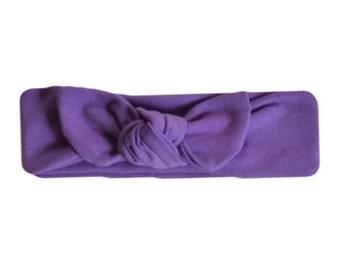 Purple Lavender Knot Headband.  Jersey knot headband. Turban headband. Cotton Jersey headband. Baby. Adult. Childrens.