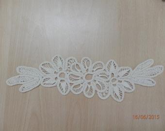 Crochet Doily, Romanian Point Lace , Beige, Floral Pattern, crochet, wedding gift, home decor